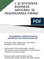Rolul Și Eficiența Business Planificării În Dezvoltarea Firmei