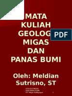 GEOLOGI MIGAS DAN PANAS BUMI + FOTO DAN GAMBAR (MID SEMESTER)