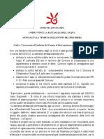 Codici Vince Battaglia Contro Comune Di Cittaducale - Comunicato Stampa 24.2.10