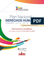 Plan Nacional Derechos Human Os Venezuela