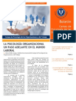 LA PSICOLOGÍA ORGANIZACIONAL EN EL MUNDO LABORAL
