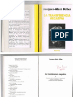 13.- Miller, J.a. (2000) La Transferencia Negativa. 49p