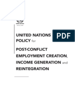 Un Policy for Post Conflict Employment Creation