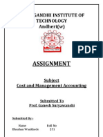 Costing Assignment