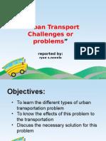 Urban Transportation Problem Novelo