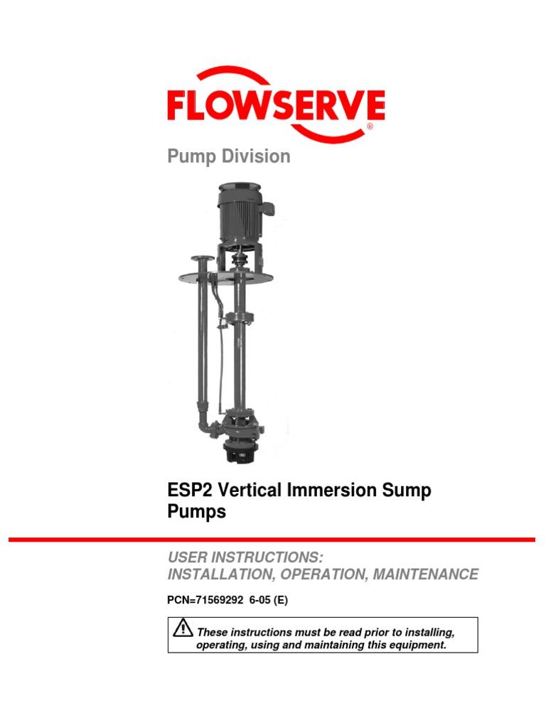 Flowserve pump Operation Manual