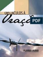 Livro eBook Obstaculos a Oracao