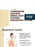 Comparative Anatomy -Respiratory System