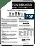 IISER Admissions 20150228