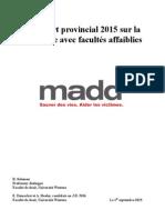Rapport sur la conduite avec facultés affaiblies 2015
