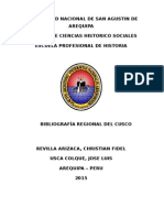 Bibliografía sobre Cusco