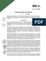 RJ 272-2014 SIS Baja de Afiliados SIS