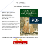 Hindu Gods and Goddesses w j Wilkins