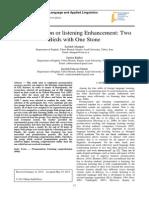 Pronunciation or listening Enhancement
