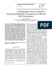 Arabic ESL Orthographic Errors in English