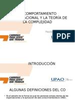 COMPORTAMIENTO ORGANIZACIONAL Y TEORIA D COMPLEJIDAD