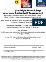 First Region High School Boys and Girls