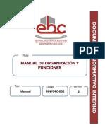 Manual de Organizacion y Funciones Ebc