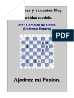 27-D11 Gambito de Dama (Defensa Eslava)
