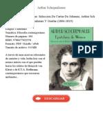 Epistolario de Weimar Schopenhauer