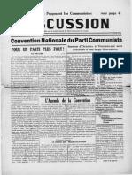 Discussion Août 1936