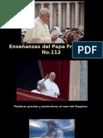 Enseñanzas Del Papa Francisco - Nº 112