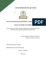 149 Diseño de Un Parque Temàtico en La Laguna de La Encañada, Como Aporte Al Desarrollo Turìstico Del Cantòn Bolìvar Provincia Del Carchi - Auz Càrdenas, Paola