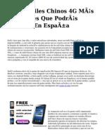 <h1>Los Móviles Chinos 4G Más Asequibles Que Podrás Emplear En España</h1>