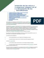 Caracterización de Las Micro y Pequeñas Empresas