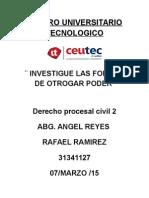 Centro Universitario Tecnologico Procesal 1