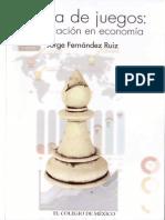 Teoría de Juegos de Jorge Fernández Ruiz