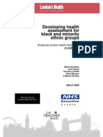 Developing HIA for BME Groups - NHSE England - 2000