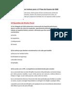 70 Questões OAB para treino para 1a fase