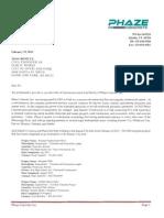 Phaze Concrete application to Overland Park, Kansas