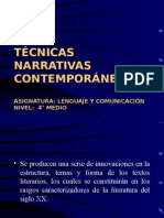 46650277-TECNICAS-NARRATIVAS-CONTEMPORANEAS.ppt