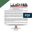 Declaración Pública - Ante La Muerte de Manuel Contreras - 08 de agosto de 2015