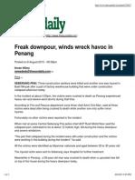 Freak Downpour, Winds Wreck Havoc in Penang