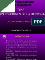 Aplicaciones de La Derivada -2015