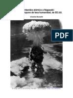 El bombardeo atómico a Nagasaki otro crimen impune de lesa humanidad de EEUU