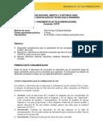 Prácticas Curso Seminario de Telecomunicaciones - UNAD (2015)