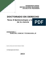 Tema 8 Epistemología y Los Retos de La Ciencia