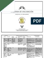 Esquema de Vacunación y contraindicaciones