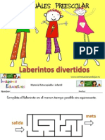 MATERIALES PREESCOLAR Laberintos Divertidos