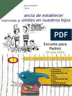 Escuela Para Padres ICPV. Normas & Límites 01.07.2015
