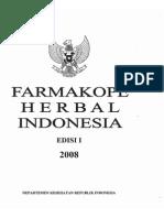 Farmakope Herbal Indonesia Ed i 2008