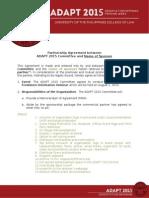 ADAPT 2015 Organization MOA