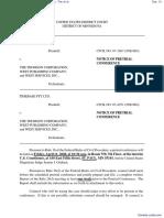 TimeBase Pty Ltd. v. Thomson Corporation, The et al - Document No. 31