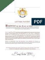 liossalde letters patent
