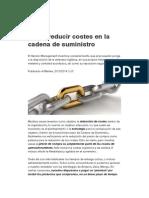 Cómo Reducir Costes en La Cadena de Suministro