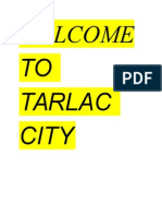 Welcome to Tarlac City